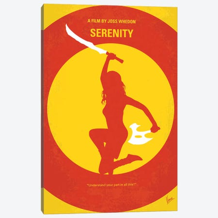 Serenity Minimal Movie Poster Canvas Print #CKG742} by Chungkong Canvas Wall Art
