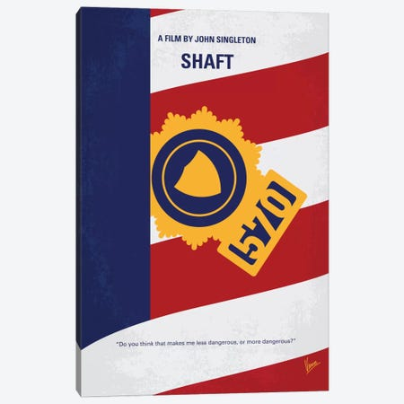 Shaft Minimal Movie Poster Canvas Print #CKG743} by Chungkong Canvas Art
