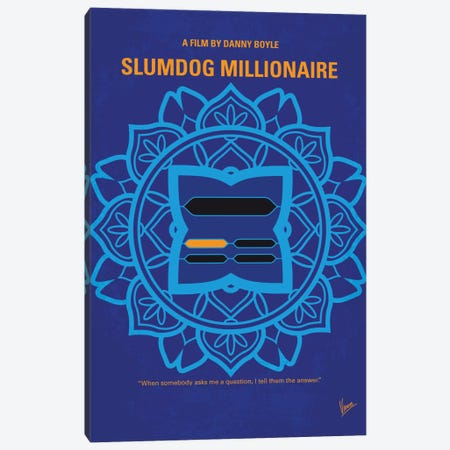 Slumdog Millionaire Minimal Movie Poster Canvas Print #CKG744} by Chungkong Canvas Art Print