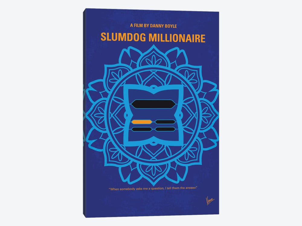 Slumdog Millionaire Minimal Movie Poster by Chungkong 1-piece Canvas Art