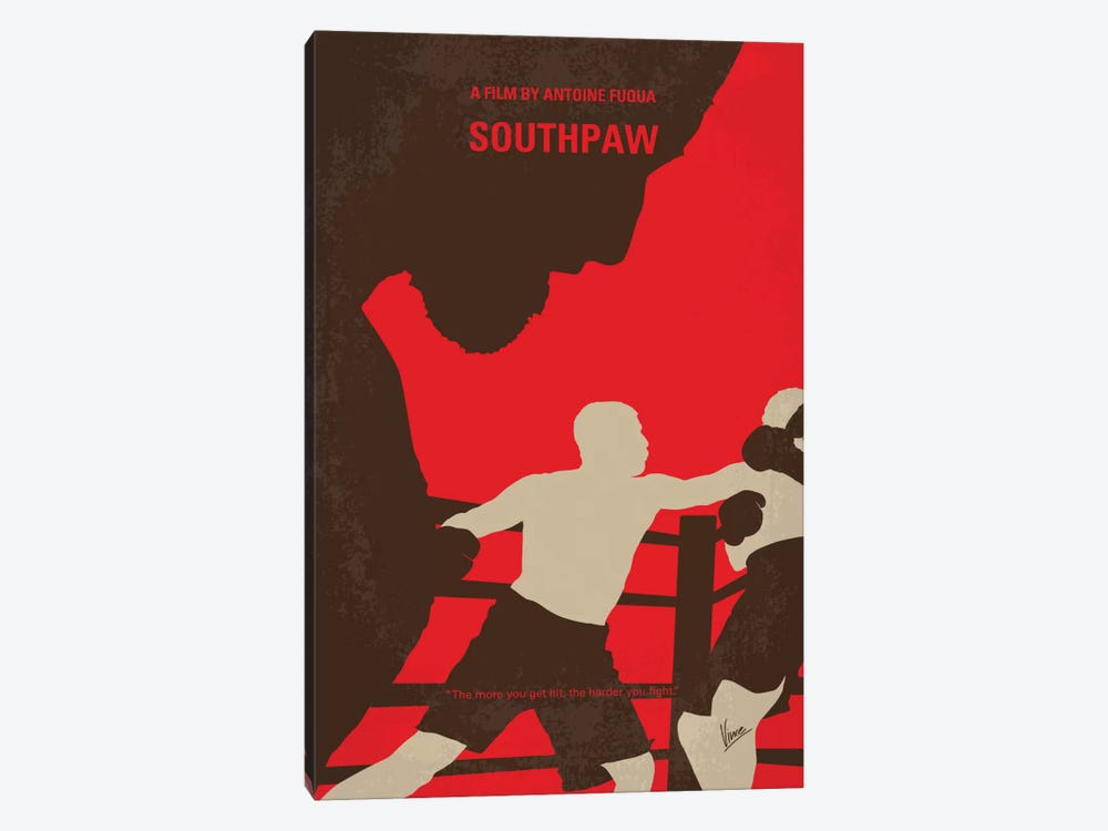 Southpaw Minimal Movie Poster by Chungkong 1-piece Canvas Print