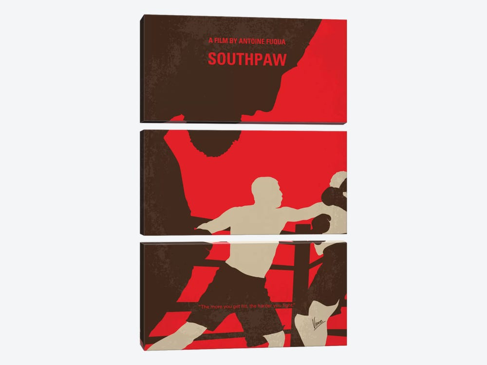 Southpaw Minimal Movie Poster by Chungkong 3-piece Art Print