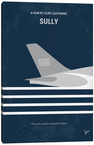 Sully: Miracle On The Hudson Minimal Movie Poster Canvas Art Print
