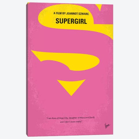 Supergirl Minimal Movie Poster Canvas Print #CKG747} by Chungkong Canvas Art Print