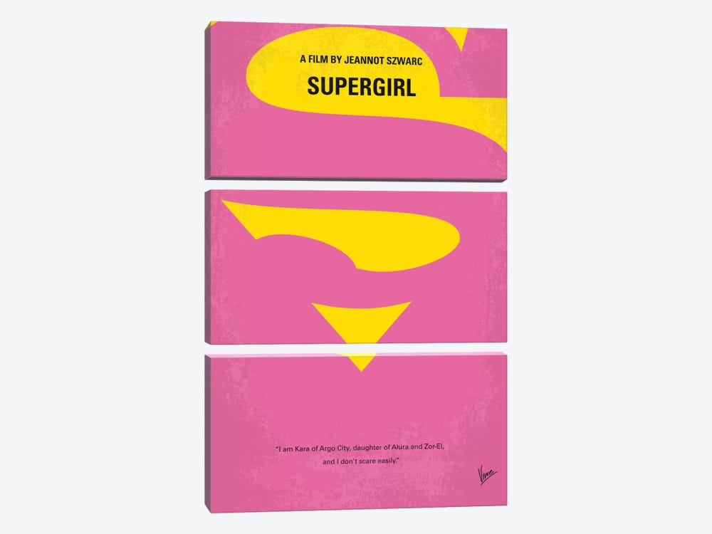 Supergirl Minimal Movie Poster by Chungkong 3-piece Canvas Print