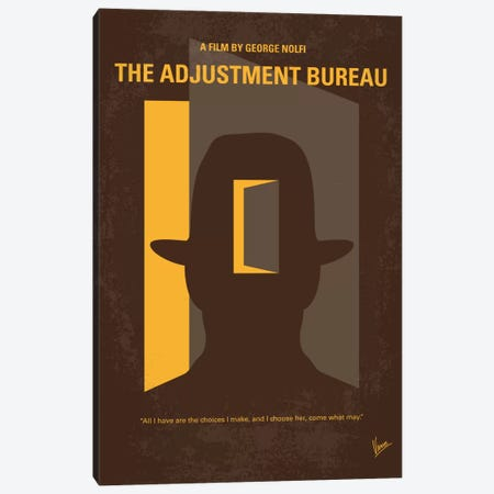 The Adjustment Bureau Minimal Movie Poster Canvas Print #CKG748} by Chungkong Canvas Art