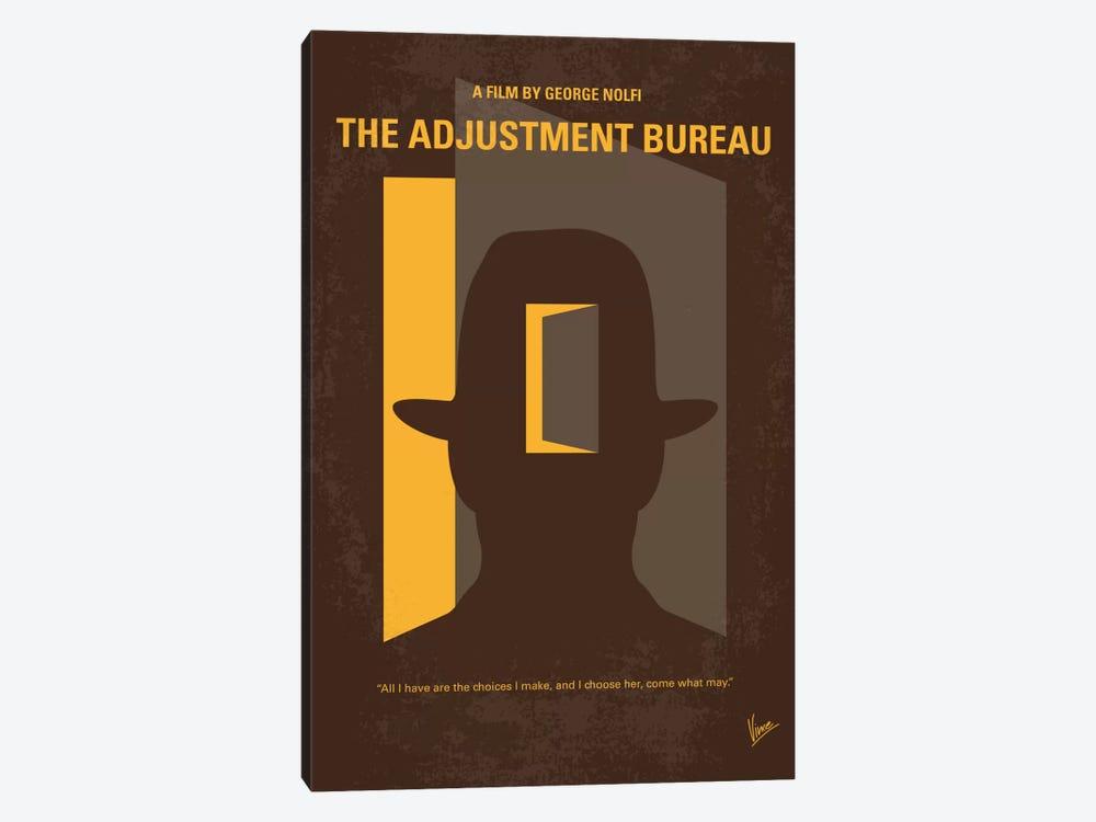 The Adjustment Bureau Minimal Movie Poster by Chungkong 1-piece Canvas Artwork