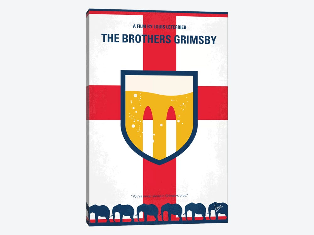 The Brothers Grimsby Minimal Movie Poster by Chungkong 1-piece Canvas Art Print