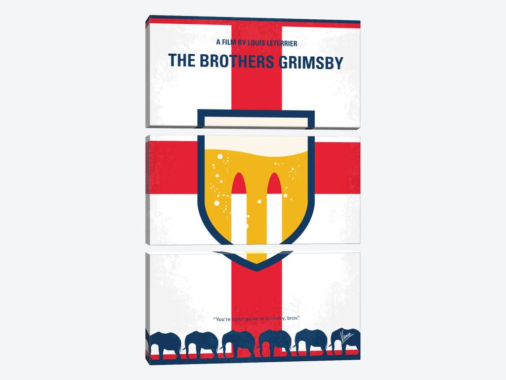 The Brothers Grimsby Minimal Movie Poster by Chungkong 3-piece Art Print