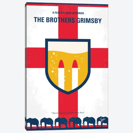 The Brothers Grimsby Minimal Movie Poster Canvas Print #CKG749} by Chungkong Canvas Artwork