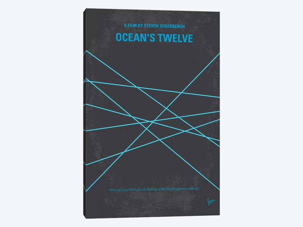 Ocean's Twelve Minimal Movie Poster by Chungkong 1-piece Canvas Artwork