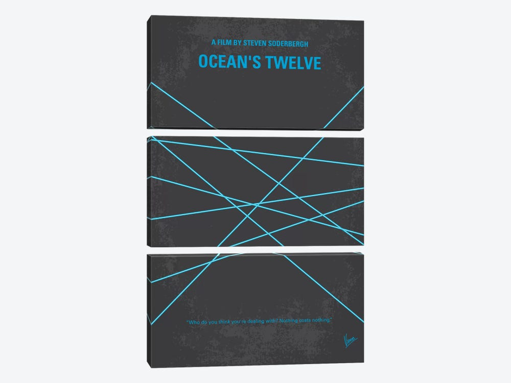 Ocean's Twelve Minimal Movie Poster by Chungkong 3-piece Canvas Art