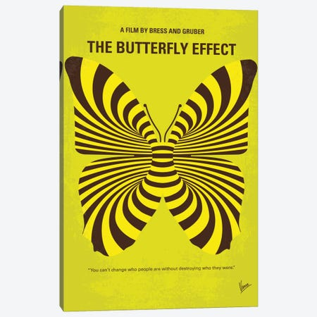 The Butterfly Effect Minimal Movie Poster Canvas Print #CKG750} by Chungkong Art Print