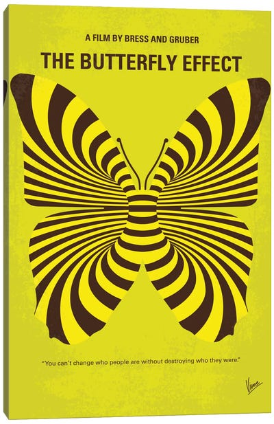 The Butterfly Effect Minimal Movie Poster Canvas Art Print