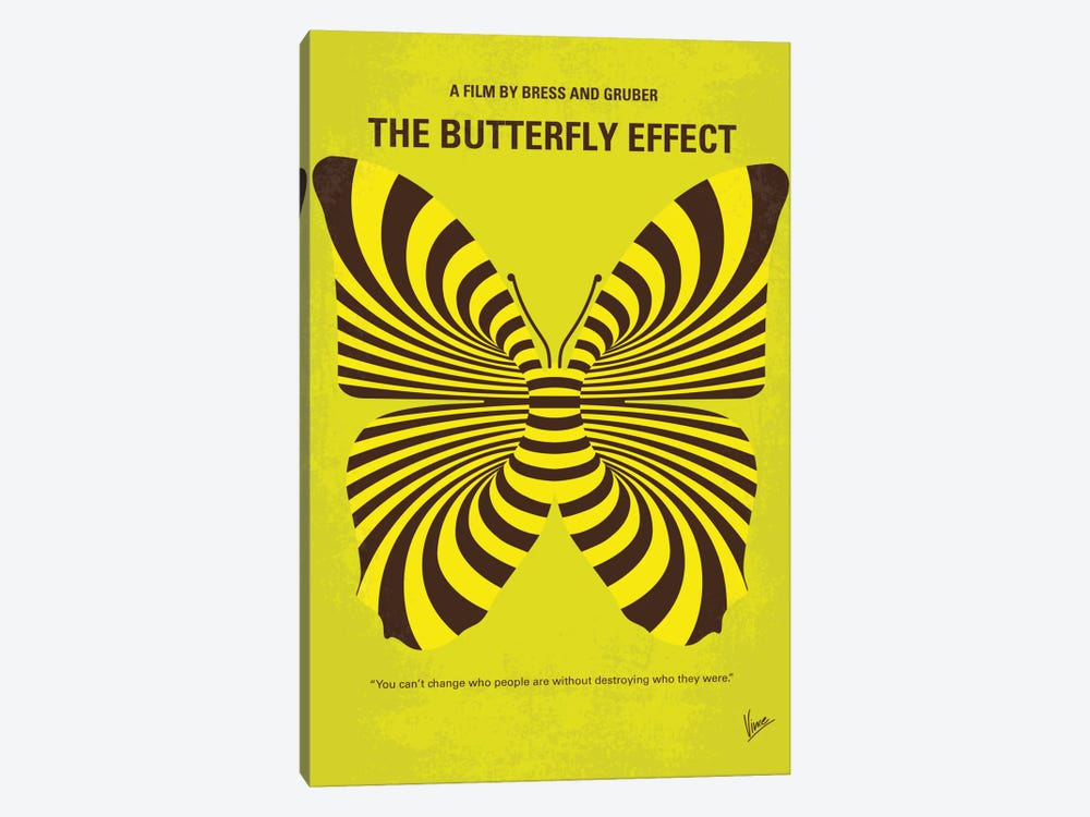 The Butterfly Effect Minimal Movie Poster by Chungkong 1-piece Canvas Print