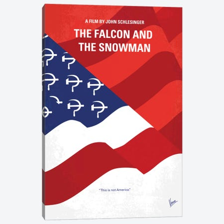 The Falcon And The Snowman Minimal Movie Poster Canvas Print #CKG751} by Chungkong Art Print
