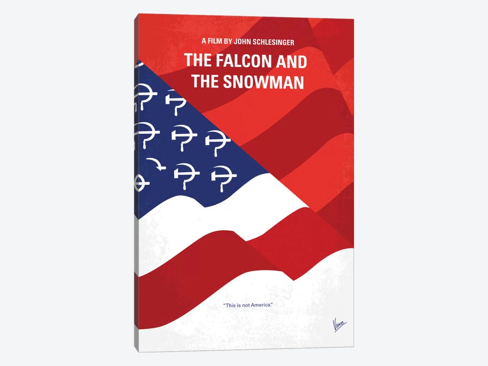 The Falcon And The Snowman Minimal Movie Poster by Chungkong 1-piece Canvas Artwork
