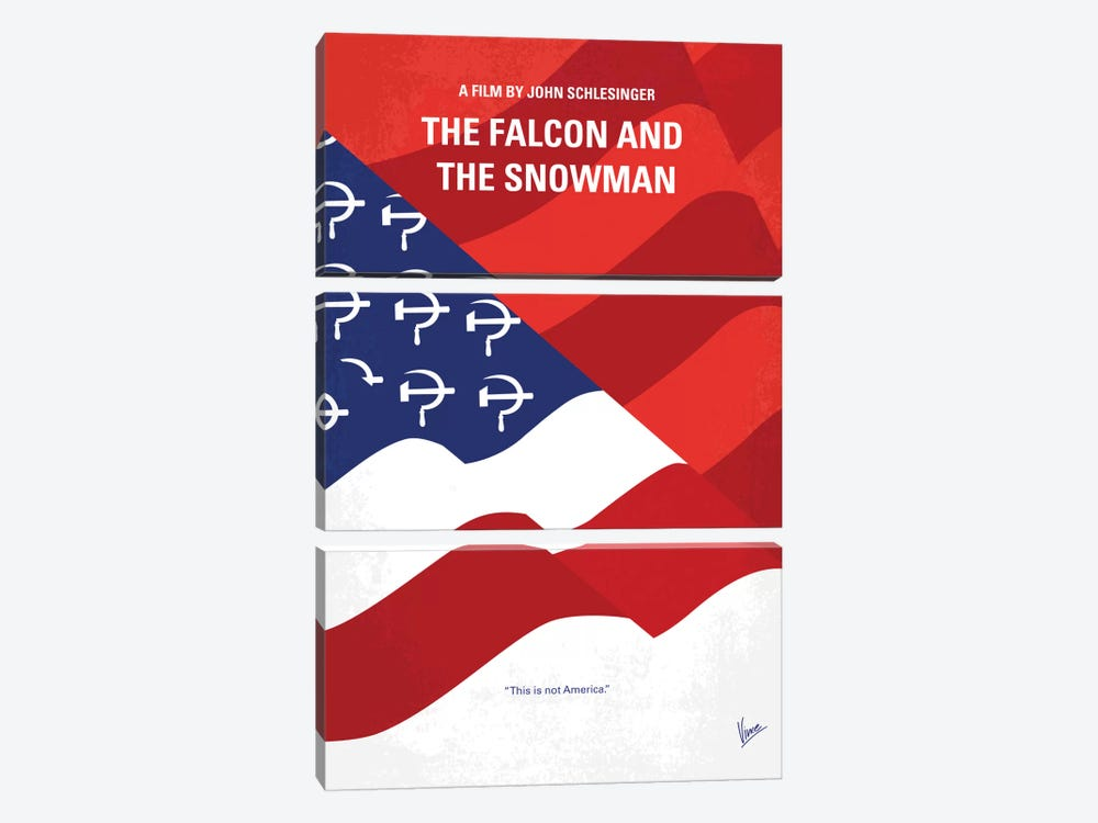 The Falcon And The Snowman Minimal Movie Poster by Chungkong 3-piece Canvas Artwork