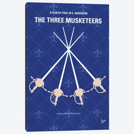 The Three Musketeers Minimal Movie Poster Canvas Print #CKG754} by Chungkong Canvas Wall Art