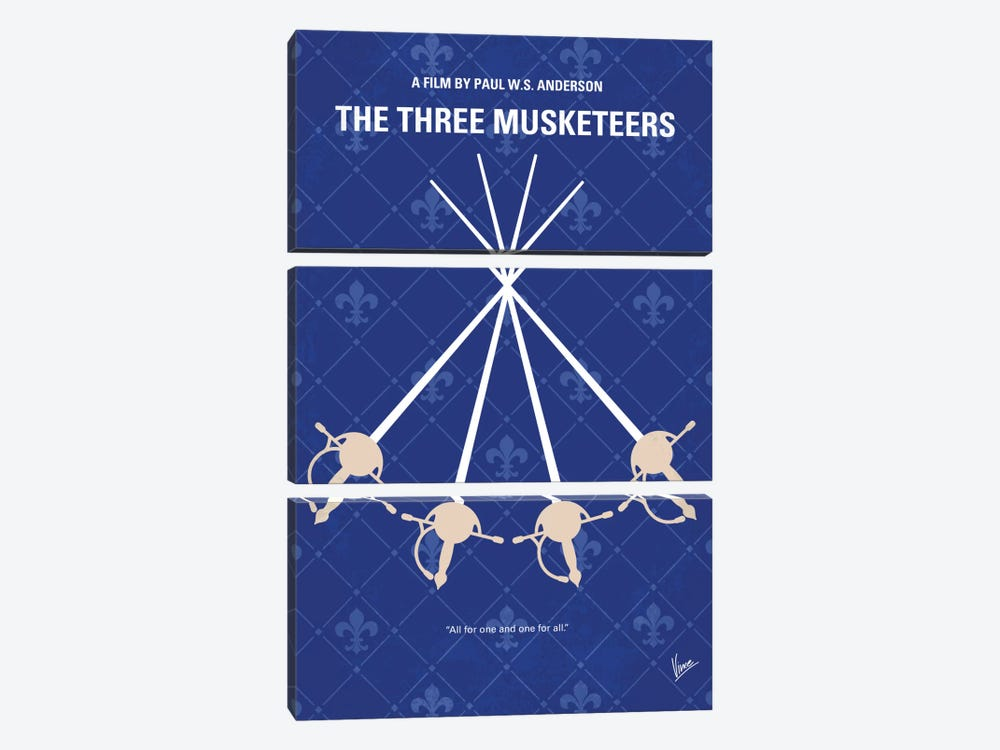 The Three Musketeers Minimal Movie Poster by Chungkong 3-piece Canvas Print