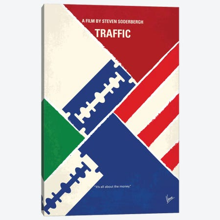 Traffic Minimal Movie Poster Canvas Print #CKG756} by Chungkong Canvas Artwork