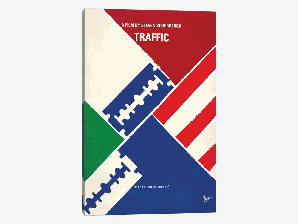 Traffic Minimal Movie Poster by Chungkong 1-piece Canvas Art Print