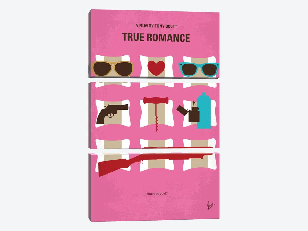 True Romance Minimal Movie Poster by Chungkong 3-piece Canvas Art