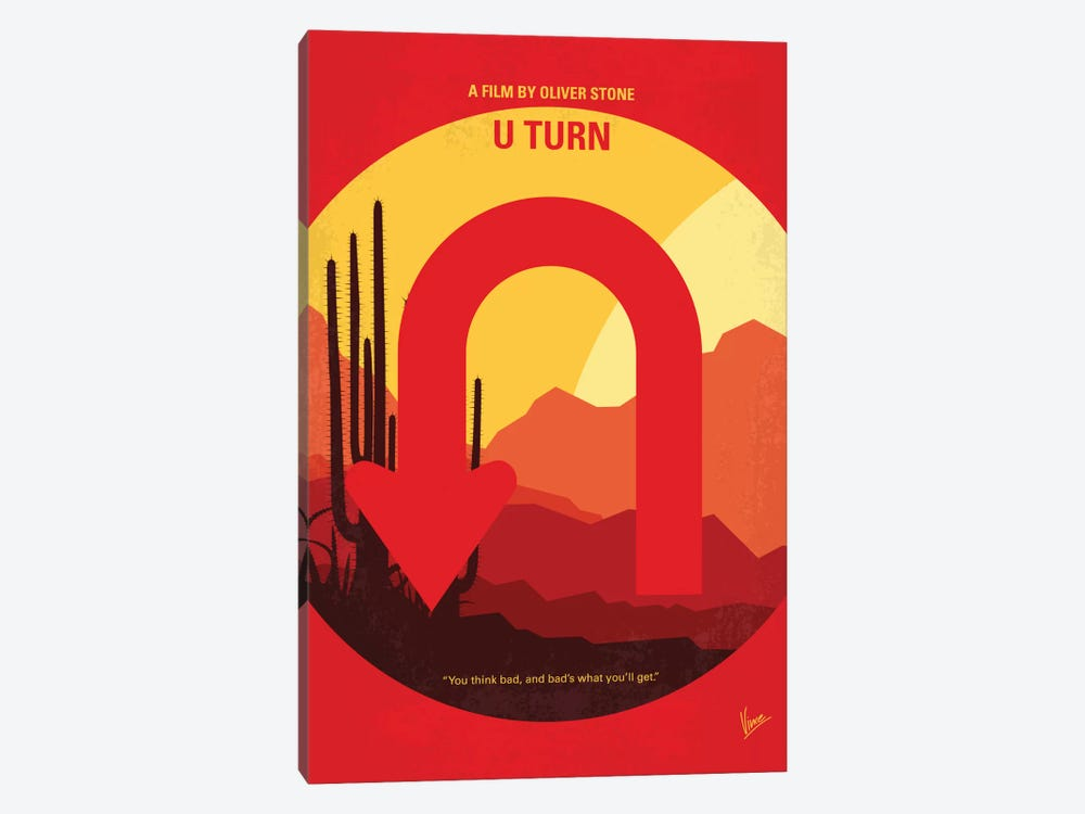 U Turn Minimal Movie Poster by Chungkong 1-piece Canvas Print