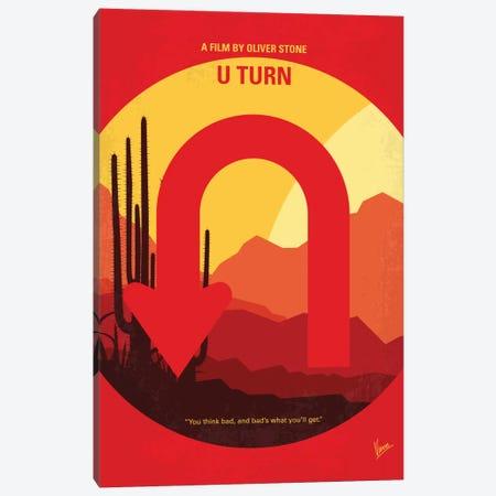 U Turn Minimal Movie Poster Canvas Print #CKG758} by Chungkong Art Print
