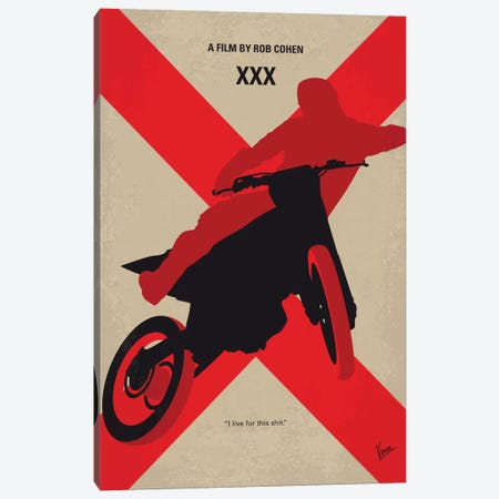 XXX Minimal Movie Poster Canvas Print #CKG759} by Chungkong Art Print