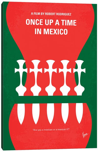 Once Upon A Time In Mexico Minimal Movie Poster Canvas Art Print