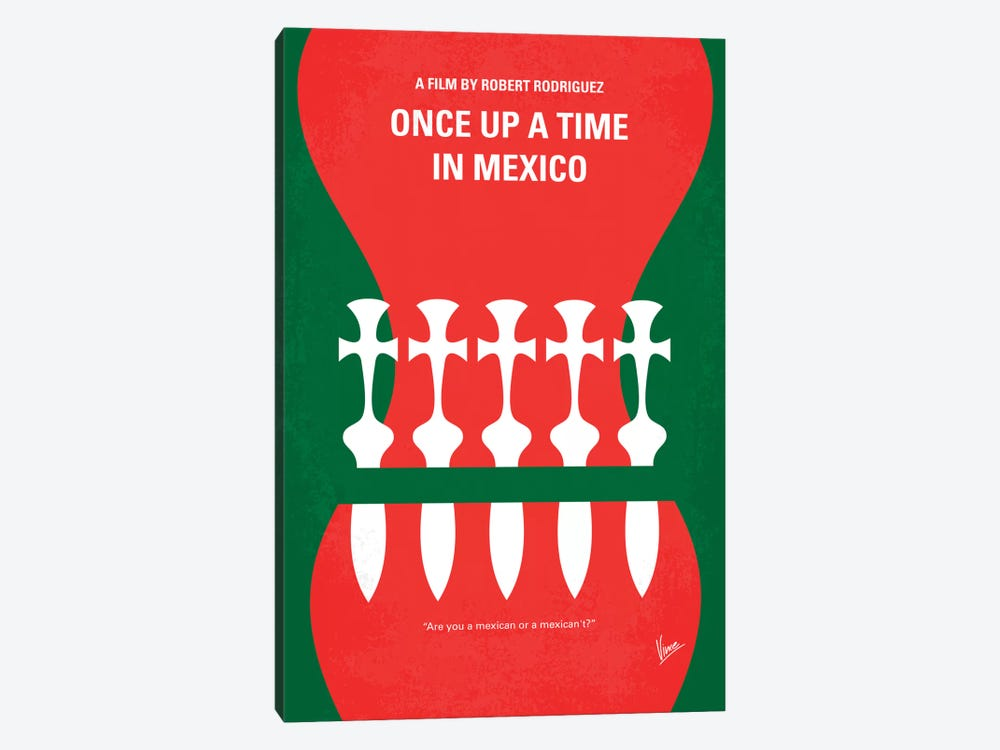 Once Upon A Time In Mexico Minimal Movie Poster by Chungkong 1-piece Art Print