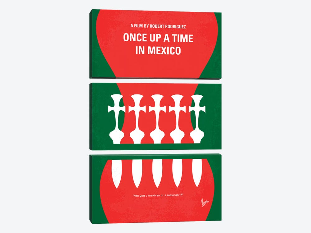 Once Upon A Time In Mexico Minimal Movie Poster by Chungkong 3-piece Canvas Art Print