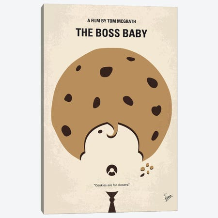 Boss Baby Minimal Movie Poster Canvas Print #CKG761} by Chungkong Canvas Artwork