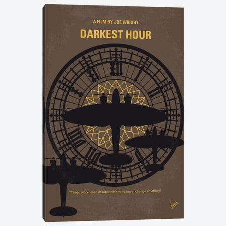 Darkest Hour Minimal Movie Poster 3-Piece Canvas #CKG762} by Chungkong Canvas Art