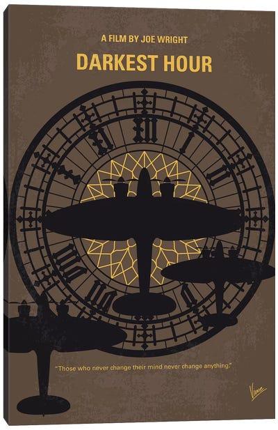 Darkest Hour Minimal Movie Poster Canvas Art Print