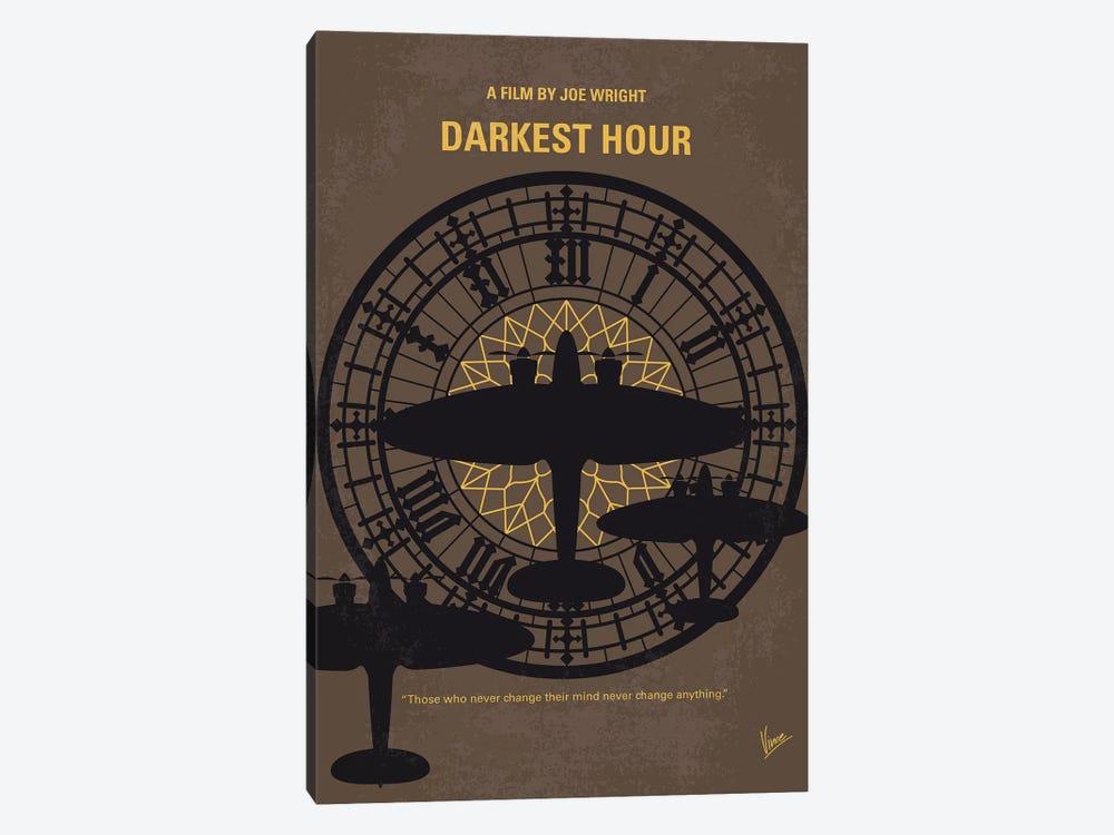 Darkest Hour Minimal Movie Poster by Chungkong 1-piece Canvas Artwork