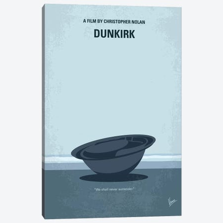 Dunkirk Minimal Movie Poster Canvas Print #CKG763} by Chungkong Canvas Wall Art