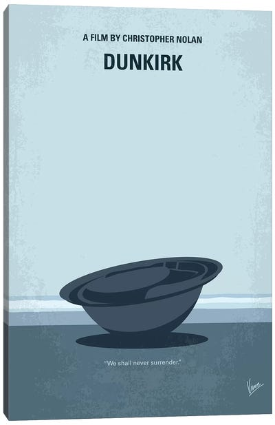 Dunkirk Minimal Movie Poster Canvas Art Print