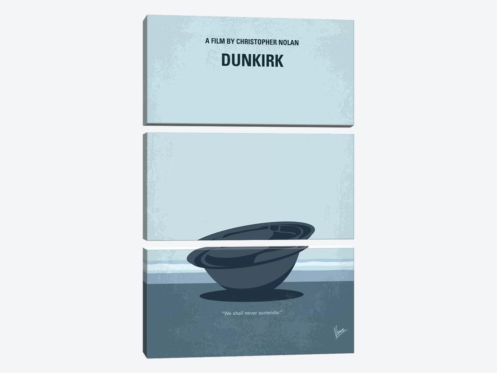 Dunkirk Minimal Movie Poster by Chungkong 3-piece Art Print