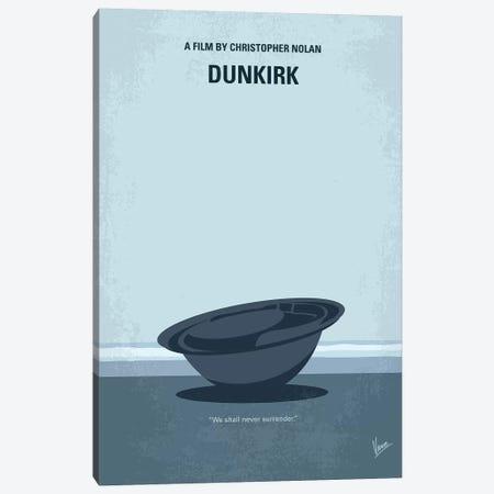 Dunkirk Minimal Movie Poster Canvas Print #CKG763} by Chungkong Canvas Wall Art