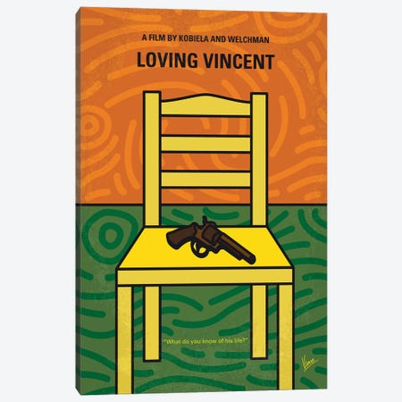 Loving Vincent Minimal Movie Poster Canvas Print #CKG764} by Chungkong Art Print