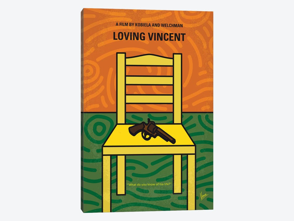 Loving Vincent Minimal Movie Poster by Chungkong 1-piece Canvas Wall Art