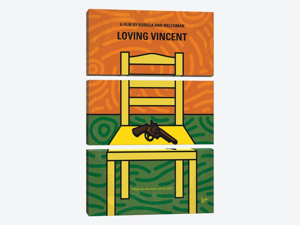 Loving Vincent Minimal Movie Poster 3-piece Canvas Art