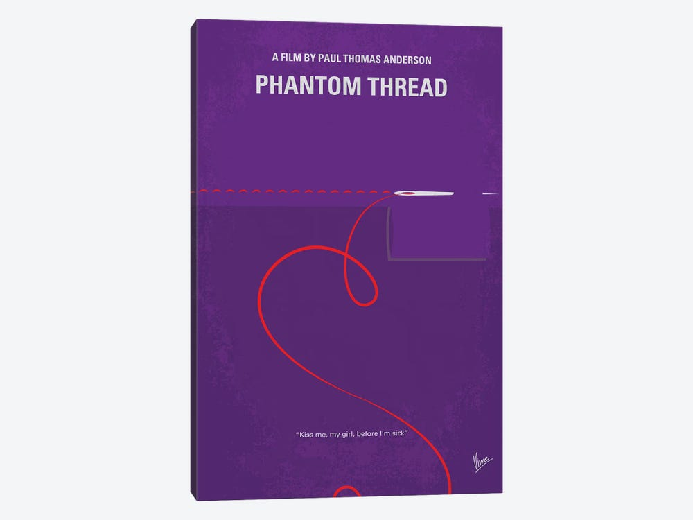 Phantom Thread Minimal Movie Poster by Chungkong 1-piece Art Print