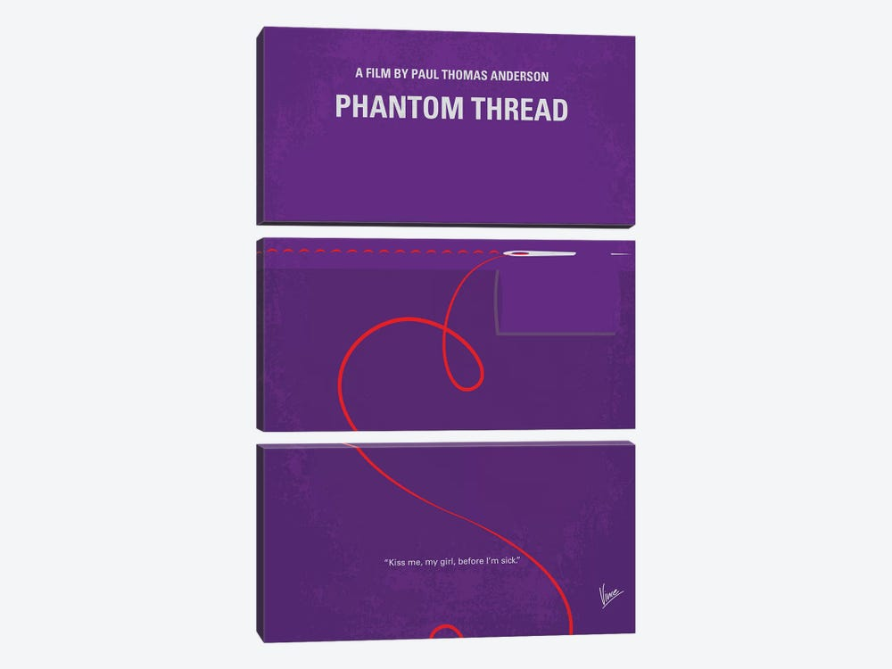 Phantom Thread Minimal Movie Poster by Chungkong 3-piece Art Print
