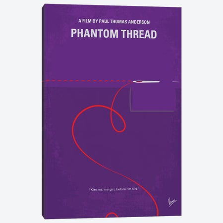 Phantom Thread Minimal Movie Poster Canvas Print #CKG765} by Chungkong Art Print