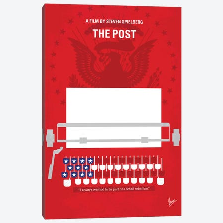 The Post Minimal Movie Poster Canvas Print #CKG766} by Chungkong Canvas Print