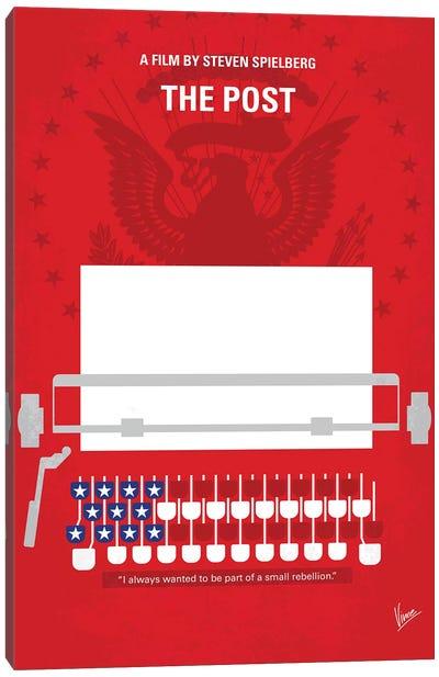 The Post Minimal Movie Poster Canvas Art Print