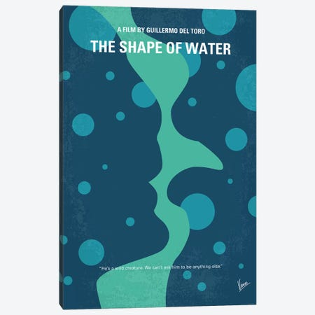 The Shape of Water Minimal Movie Poster Canvas Print #CKG767} by Chungkong Canvas Art Print